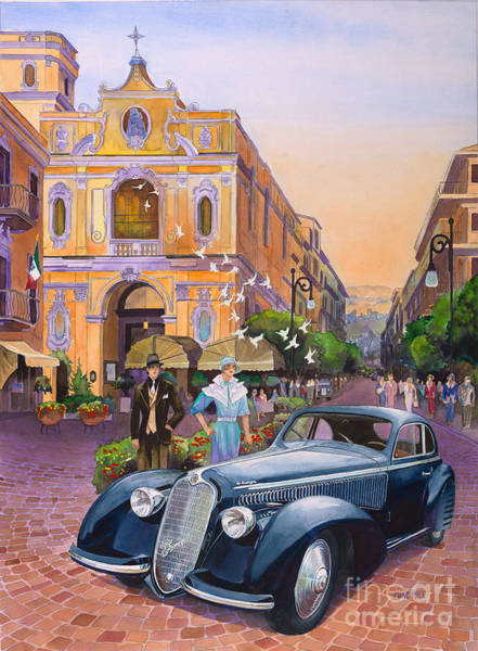 Romeo Painting - Alfa Romeo In 1938 Italy by Mike Hill