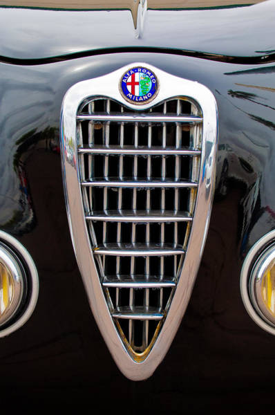 Photograph - Alfa Romeo Milano Grille by Jill Reger