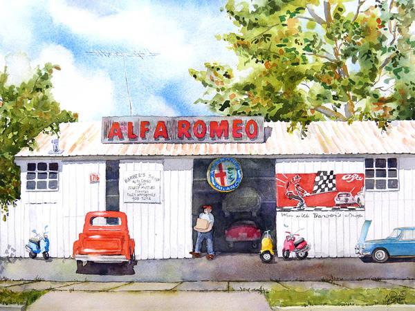 Alfa Romeo Painting - Alfa Romeo by Nancy LaBerge Muren
