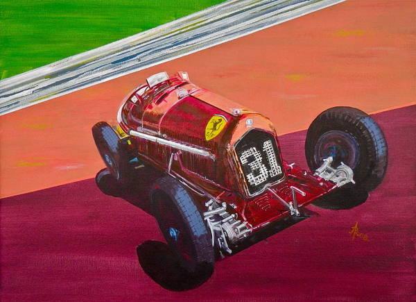 Alfa Romeo Painting - Alfa Romeo Tipo B P3  by Anna Ruzsan