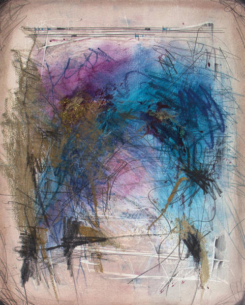 Monotype Mixed Media - Alfredo's Harp 3 by Jeannette Debonne