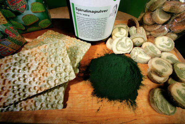 German Food Photograph - Algae Health Products by Pascal Goetgheluck/science Photo Library