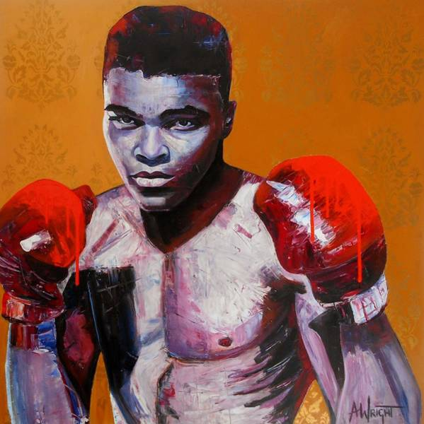 Big Fight Painting - Ali by Angie Wright