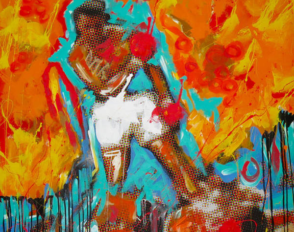 Boxing Painting - Ali by Elliott Aaron From
