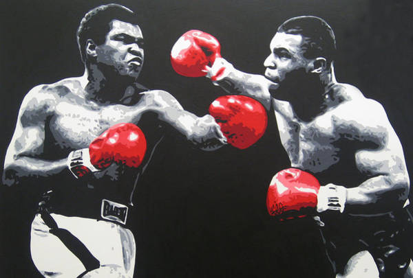 Boxing Painting - Ali V Tyson by Geo Thomson