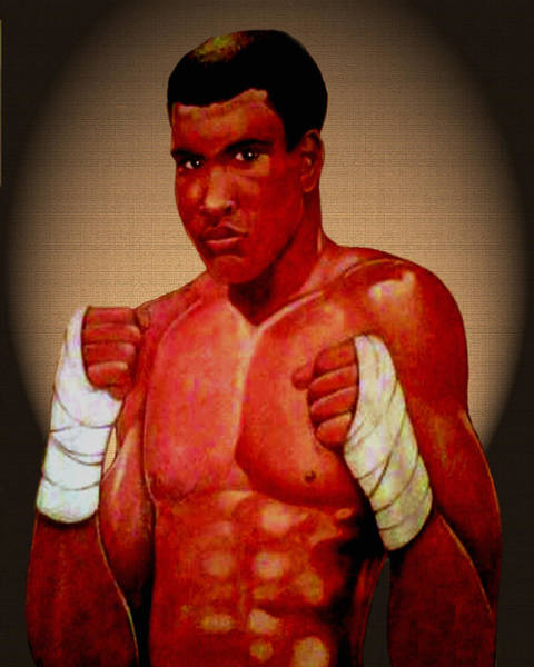 Gold Medal Drawing - ALI by Victor Carrington