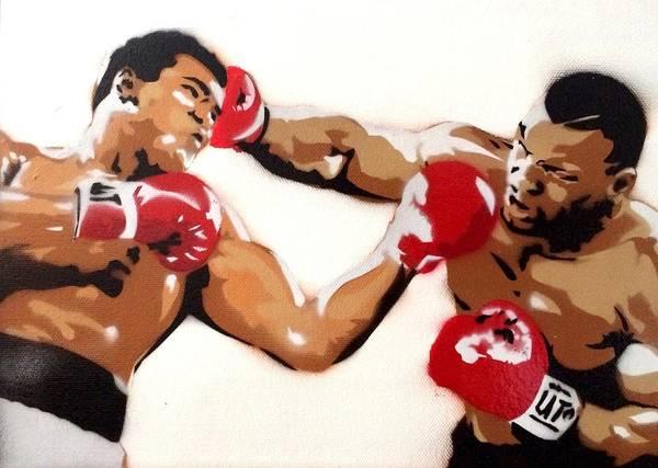 Boxing Mixed Media - Ali Vs Tyson by Alex Kerhulas