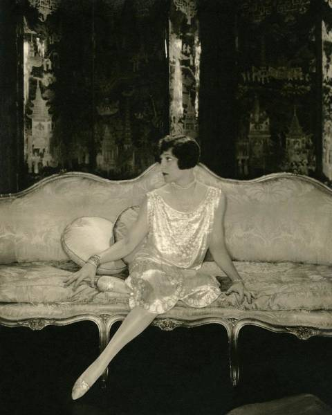 Sofa Photograph - Alice Brady On Set For The Play Sour Grapes by Edward Steichen