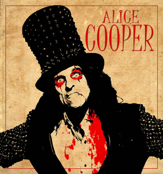 Alice Cooper Photograph - Alice Cooper 1 by Andrew Fare