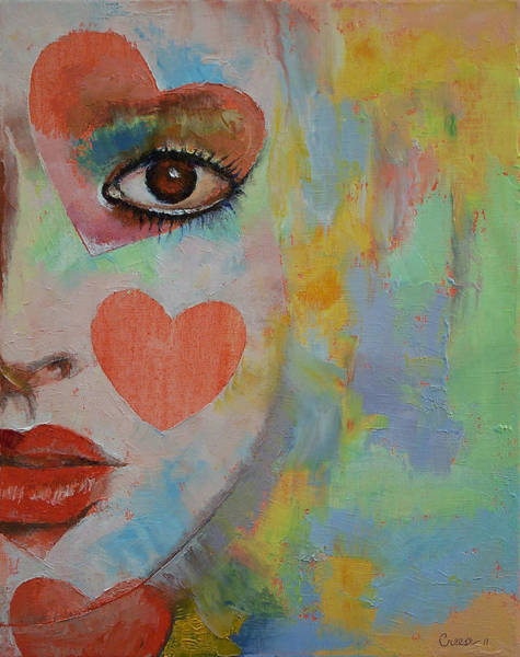 Theatrical Painting - Queen Of Hearts by Michael Creese