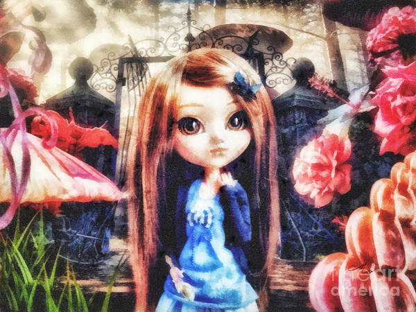 Wall Art - Mixed Media - Alice In Wonderland by Mo T