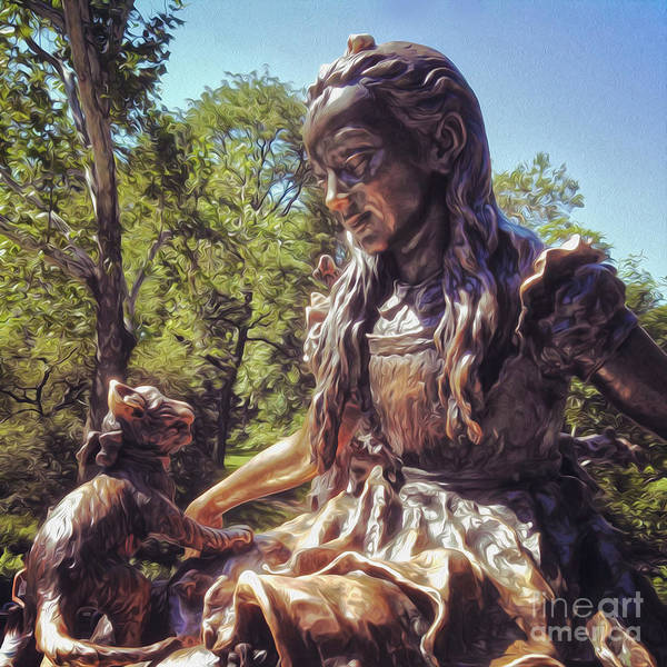 Alice In Wonderland Statue In New York City Central Park Art Print