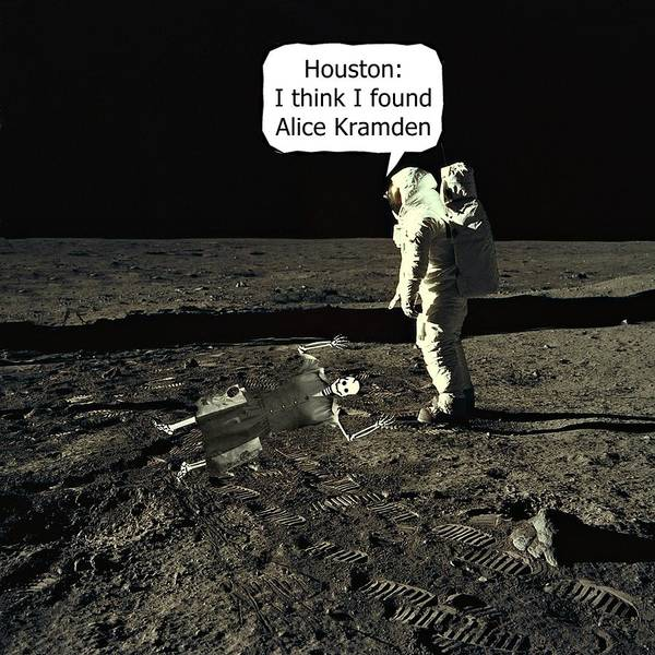 Alice Kramden On The Moon Art Print