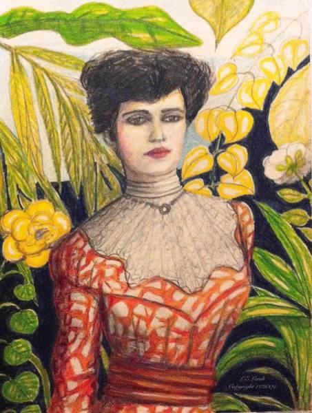 Restaurant Decor Drawing - Alice Roosevelt by Larry Lamb