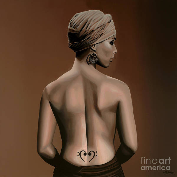 No One Wall Art - Painting - Alicia Keys  by Paul Meijering