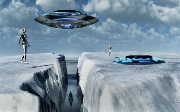 Ufology Photograph - Alien Activity At The Antarctic Site by Mark Stevenson