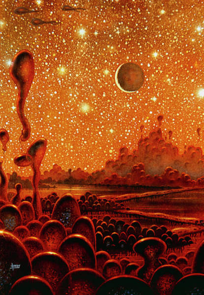 Extraterrestrial Life Photograph - Alien Civilisation by David A. Hardy/science Photo Library