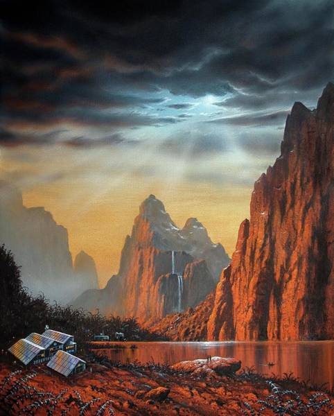 Colony Photograph - Alien Colony by David A. Hardy/science Photo Library