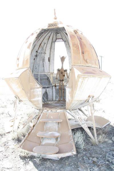 Little Planet Digital Art - Alien Contact by Daniel Hagerman