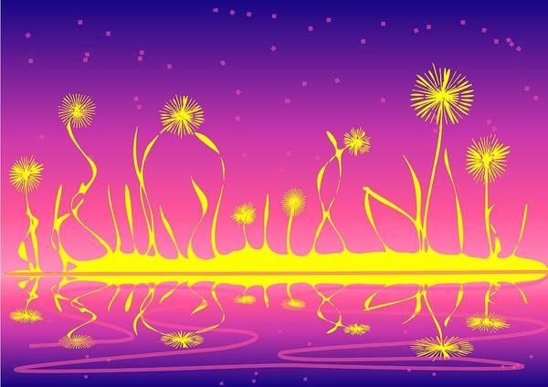 Digital Art - Alien Fire Flowers by Anastasiya Malakhova
