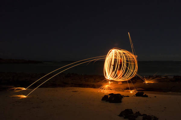 Steel Wool Photograph - Alien Firework by Tin Lung Chao