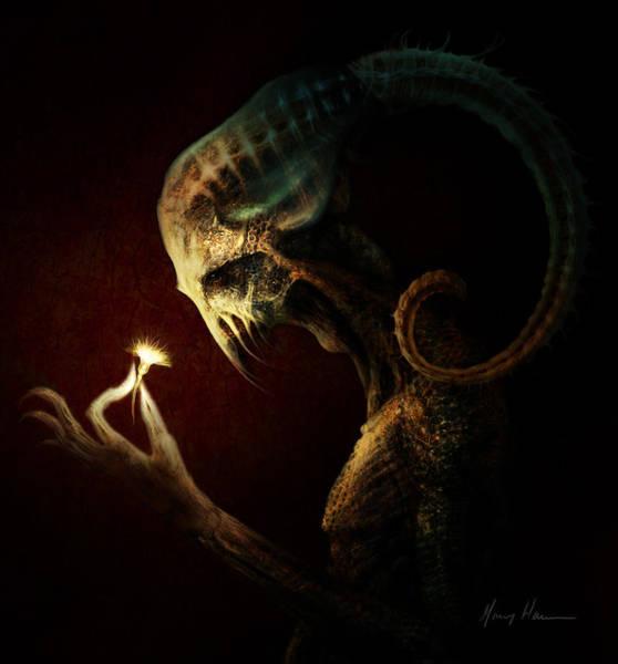 Alien Painting - Alien Flower by Gary Hanna