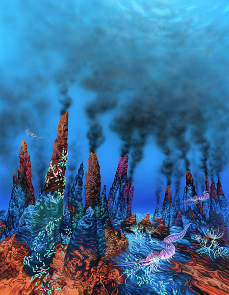 Extraterrestrial Life Photograph - Alien Hydrothermal Vents by Lynette Cook/science Photo Library
