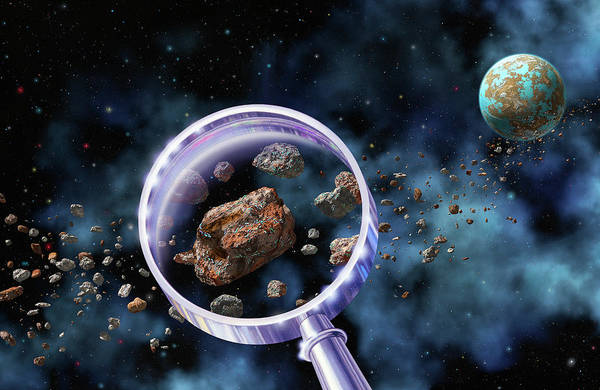 Extraterrestrial Life Photograph - Alien Microbes On Meteorites by Lynette Cook/science Photo Library