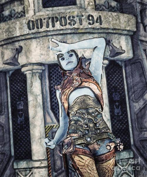 Digital Art - Alien Outpost by Jutta Maria Pusl