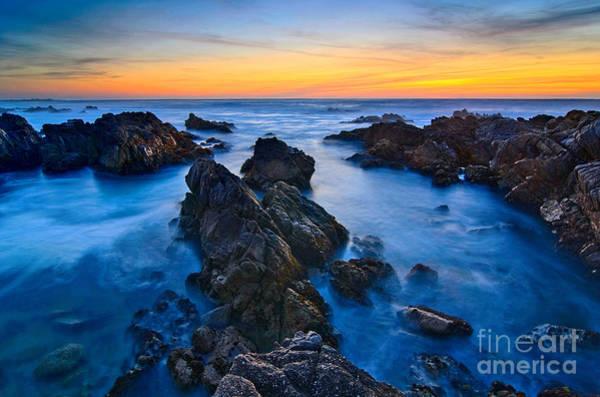 Kelp Photograph - Alien Planet - Rocky Asilomar Beach In Monterey Bay At Sunset. by Jamie Pham