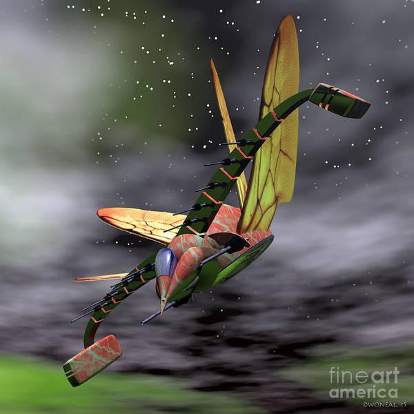 Digital Art - Alien Raptor 2 by Walter Neal