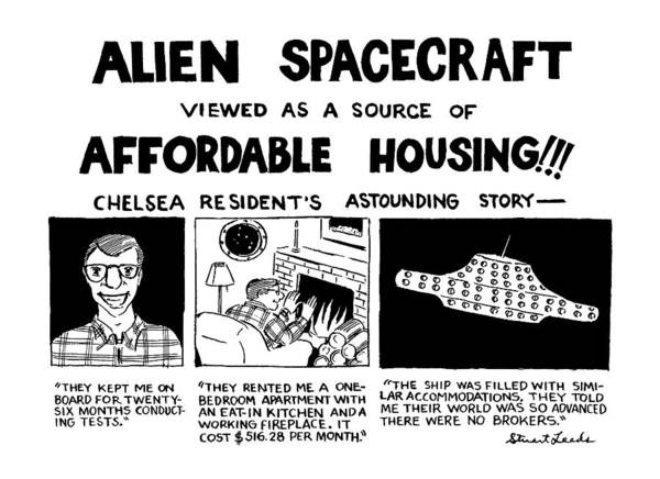 Aliens Drawing - Alien Spacecraft Viewed As A Source Of Affordable by Stuart Leeds