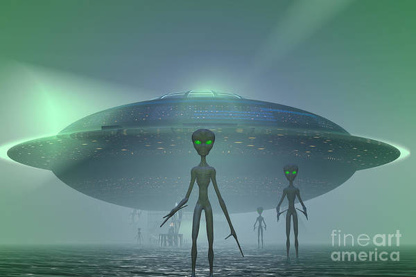 Photograph - Alien Visitors by Carol and Mike Werner