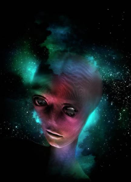 Ugliness Photograph - Alien's Head In Space by Victor Habbick Visions
