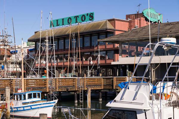 Photograph - Aliotos Restaurant Restaurant Fishermans Wharf San Francisco California Dsc2038 by Wingsdomain Art and Photography