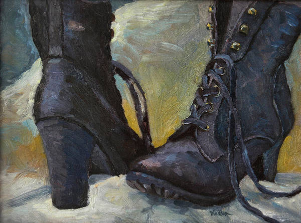 Painting - Ali's Boots by Jeff Dickson