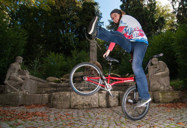 Photograph - Alive And Kicking - Bmx Flatland Power Girl by Matthias Hauser