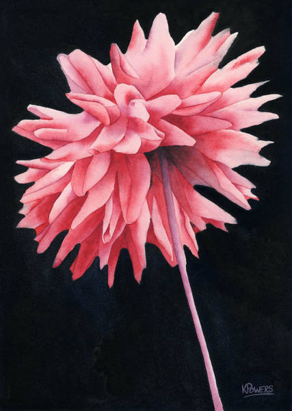 Painting - Alizarin Dahlia by Ken Powers