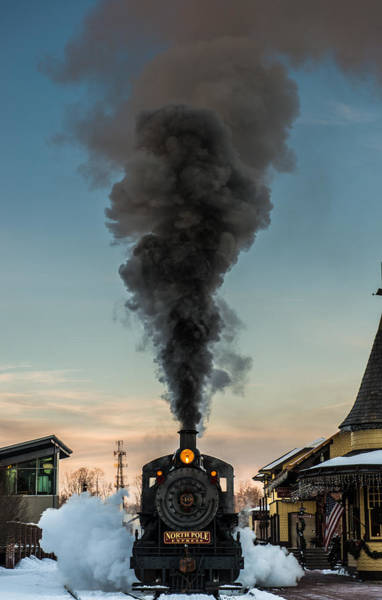 Railroad Station Photograph - All Aboard by Scott Hafer