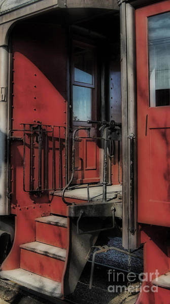 Railroad Station Photograph - All Aboard by Skip Willits