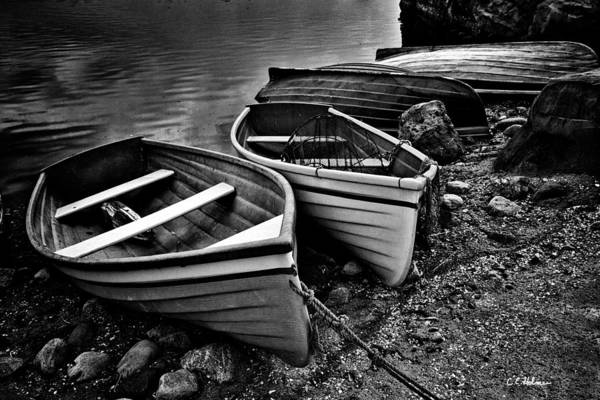 Photograph - All Ashore - Bw by Christopher Holmes