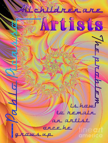 Skippy Wall Art - Digital Art - All Children Are Artist by Dana Haynes