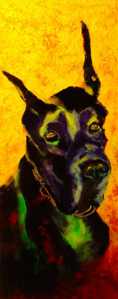 Black Great Dane Painting - All Dolled Up by Jeanne Treschuk