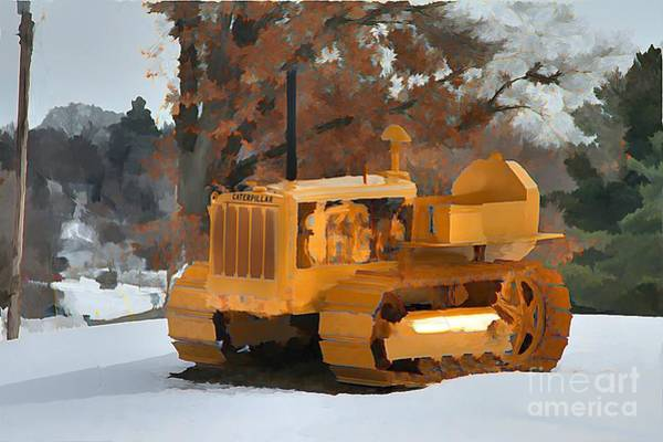 Dozer Photograph - All Done by Robert Pearson