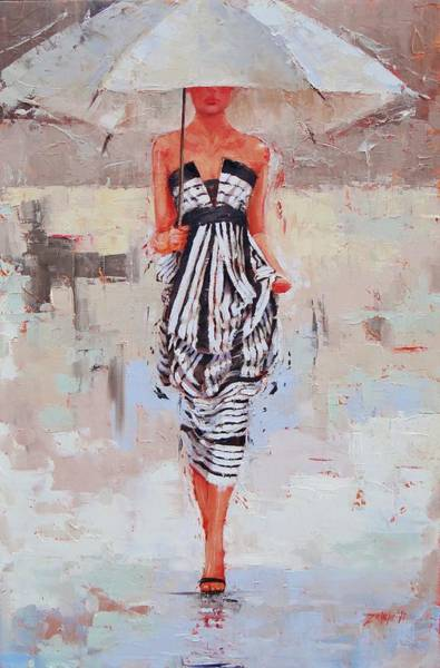 Woman Painting - All Dressed Up by Laura Lee Zanghetti