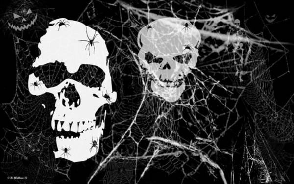 Spiderweb Digital Art - All Hallow's Eve by Brian Wallace