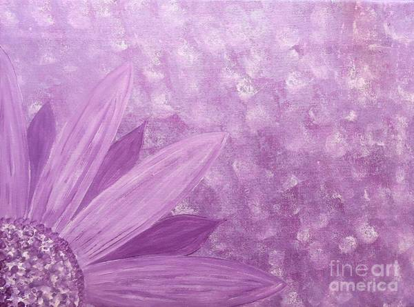 Painting - All Purple Flower by Jessie Art
