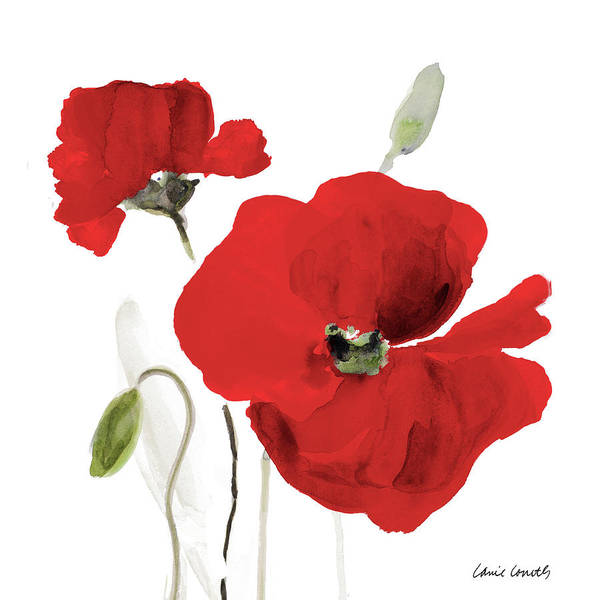 Wall Art - Painting - All Red Poppies I by Lanie Loreth