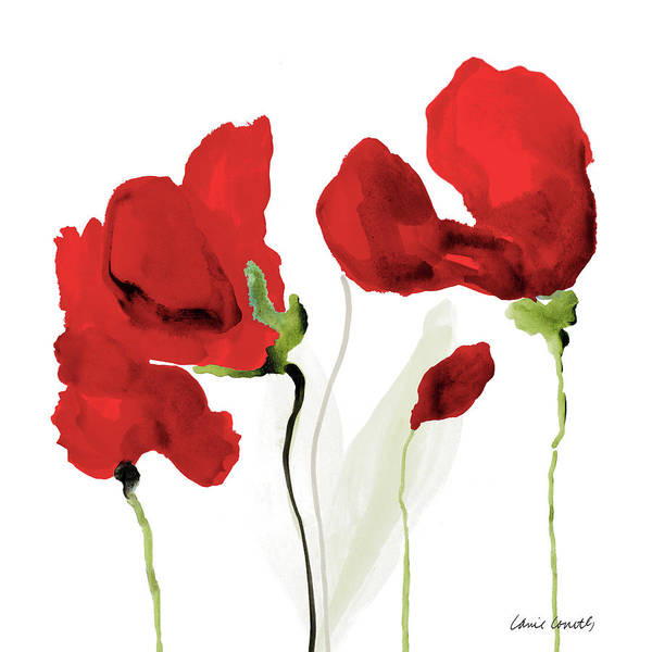 Wall Art - Painting - All Red Poppies II by Lanie Loreth