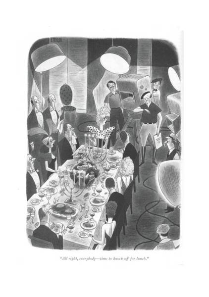Lunch Time Drawing - All Right, Everybody - Time To Knock by Richard Taylor